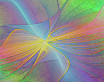 Digital Art - Optical Illusion 1a by Walter Herrit