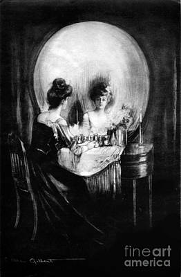 Ambiguous Photograph - Optical Illusion, All Is Vanity, 1892 by Science Source
