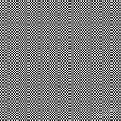 Digital Art - Optical Illusion Black And White by Susan Stevenson