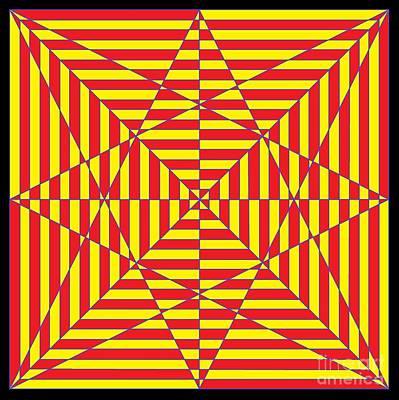 Optical Illusion Maze Digital Art - Optical Maze  by Rick Maxwell