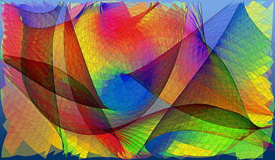Caustic Photograph - Optical Pattern by Eric Heller