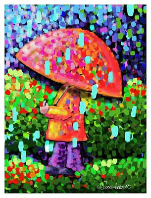 Painting - Rainy Day Stroll by Dani Abbott