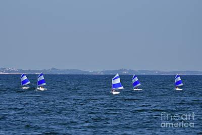 Photograph - Optimist Sailing Boats by George Atsametakis