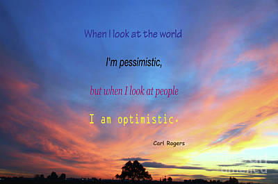 Photograph - Optimistic And Pessimistic by Debby Pueschel