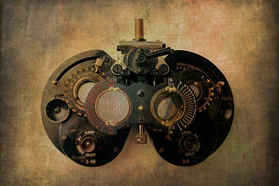 Steam Punk Photograph - Optometrist Equipment by Garry Gay