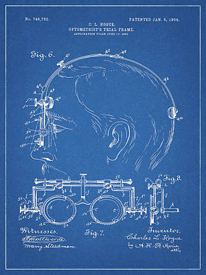 Drawing - Optometrist Trial Glasses Frame by Dan Sproul
