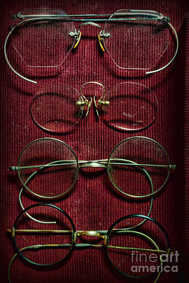 Optometry - Vintage Eyeglasses Art Print by Paul Ward
