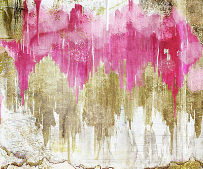 Dripping Paint Painting - Opulence Rose by Mindy Sommers