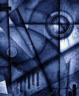 Mozart Digital Art - Opus No.7b Legato In Blue by Gary Bodnar