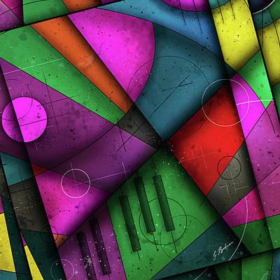 Music Abstract Art Digital Art - Opus No.7c by Gary Bodnar