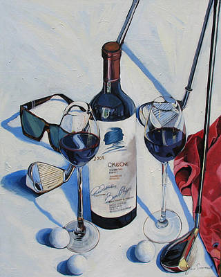 Opus One Painting - Opus One And Golf by James Scrivano