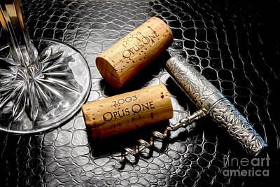 Uncork Photograph - Opus Uncorked by Jon Neidert