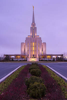 Utah Temple Photograph - Oquirrh Fall by Chad Dutson