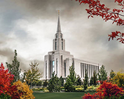Lds Painting - Oquirrh Mountain Temple by Brent Borup