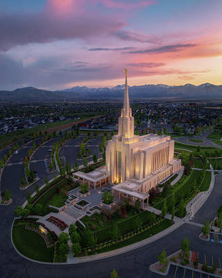 Photograph - Oquirrh Mountain Temple by Dustin LeFevre