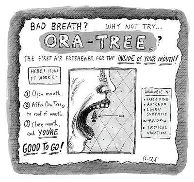Drawing - Ora Tree by Roz Chast