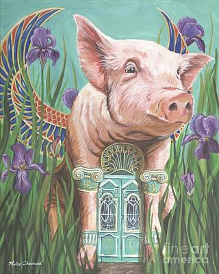 Of A Pig Painting - Oracle by Mollie Chounard