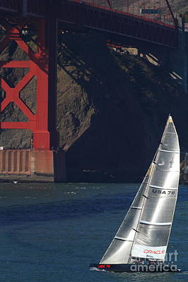 Oracle Racing Team Usa 76 International America's Cup Sailboat . 7d8071 Art Print