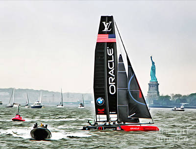 Artemis Wall Art - Photograph - Oracle Team Usa America's Cup New York 2 by Nishanth Gopinathan