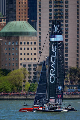 Photograph - Oracle Team Usa America's Cup Nyc by Susan Candelario