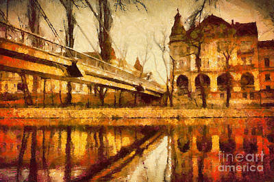 Painting - Oradea Chris River by Dimitar Hristov