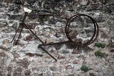Nazi Mixed Media - Oradour Sur Glane 'rusty Bike' by Marcus Kett
