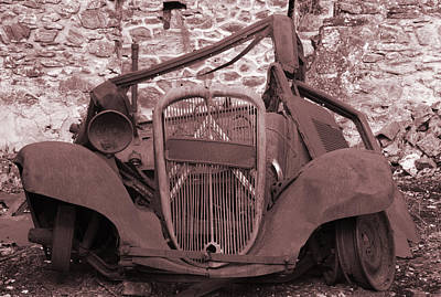 Nazi Mixed Media - Oradour Sur Glane 'rusty Car' by Marcus Kett