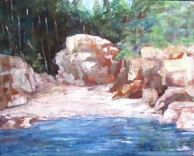 Painting - Oregon Coast Cove by Barbara O'Toole