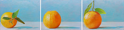Painting - Orange 123 by Muriel Dolemieux