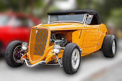 Photograph - Orange 1934 Ford by Bob Slitzan