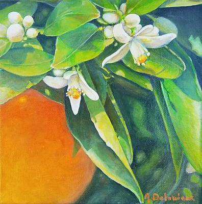 Painting - Orange A L'ombre by Muriel Dolemieux