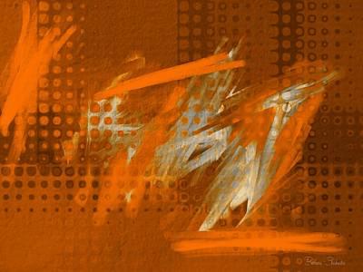 Digital Art - Orange Abstract Art - Orange Filter by Barbara Chichester