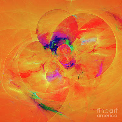 Digital Art - Orange Abstract by Deborah Benoit