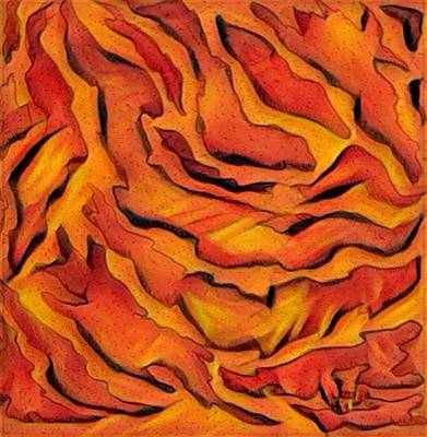 Digital Art - Orange Abstract by Megan Walsh