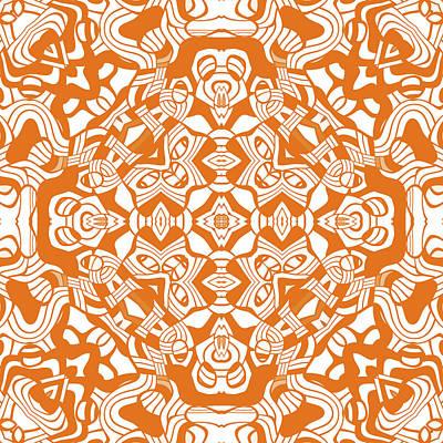 Digital Art - Orange Abstract Modern Decor Design by Georgiana Romanovna