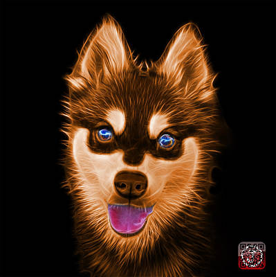 Painting - Orange Alaskan Klee Kai - 6029 -bb by James Ahn
