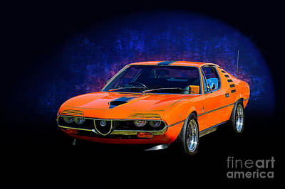 Photograph - Orange Alfa Romeo Montreal by Stuart Row