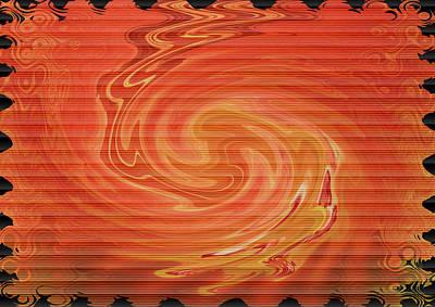 Digital Art - Orange And Black by Cathy Harper