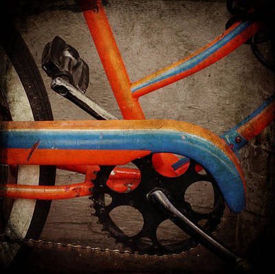 Digital Art - Orange And Blue Bike Detail by Valerie Reeves