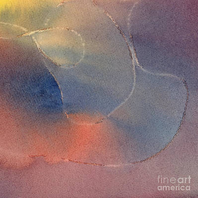 Mauve Painting - Orange And Blue Watercolor Design 2 by Sharon Freeman