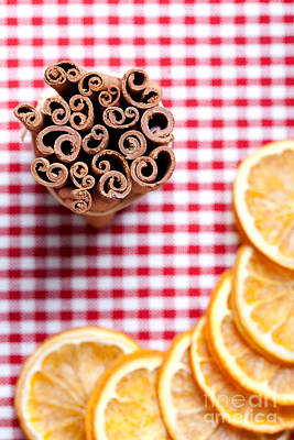 Slices Photograph - Orange And Cinnamon by Nailia Schwarz