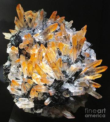 Photograph - Orange And Clear Gemstone by Barbara Yearty
