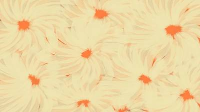 Digital Art - 'orange And Cream Flower Abstract' by Linda Velasquez