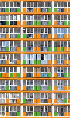 Photograph - Orange And Green Modern Housing Apartments by John Williams