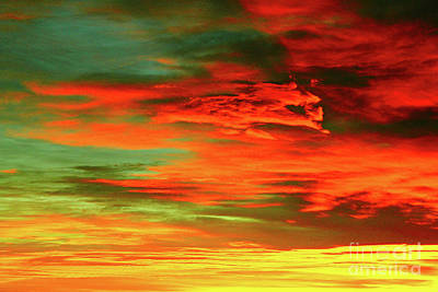 Photograph - Orange And Green Sunrise by Donna L Munro