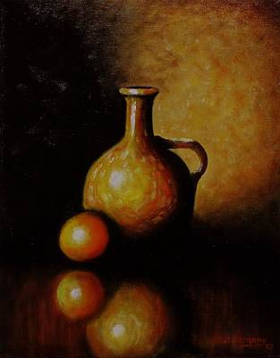 Painting - Orange And Jug by Gene Gregory