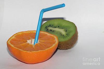 Orange And Kiwi Original by Elvira Ladocki