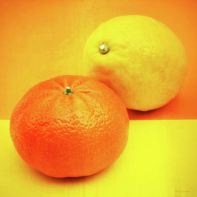 Sour Photograph - Orange And Lemon by Wim Lanclus