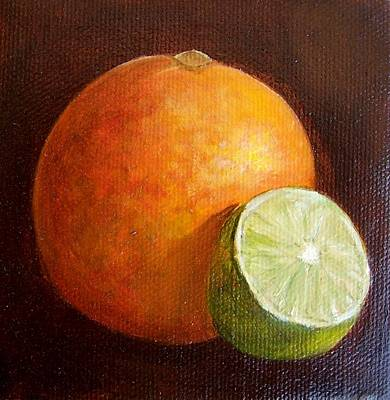 Painting - Orange And Lime 9 by Susan Dehlinger