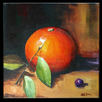 Painting - Orange And Purple by Pepe Romero